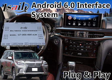 Porcellana Interfaccia dell'auto di Android 6,0 video per Lexus LX 570 con controllo 2016-2018, navigazione Waze Mirrorlink del topo di GPS fornitore