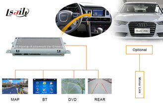 Portable AUDI Automotive Navigation System with DVD , Mirror Link , TV , USB MAP
