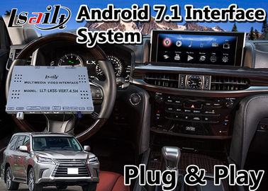 Porcellana Interfaccia del video di Lsailt Android 9,0 per Lexus LX 570 con controllo 2016-2020, navigazione Waze Mirrorlink lx570 del topo di GPS distributore